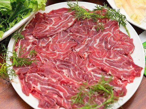 Bắp bò út cắt lát